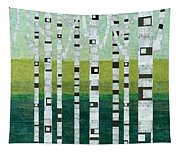 Birches At The Beach Tapestry