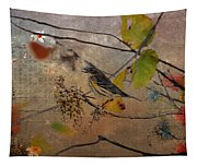 Bird And Berries Tapestry