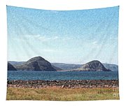 Bird Blind On The Beach Sketch Tapestry