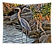 Bird By The Water Tapestry