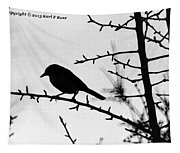 Bird In B And W Tapestry