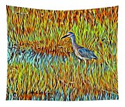 Bird In The Reeds Tapestry