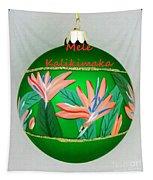 Bird Of Paradise Christmas Bulb Tapestry
