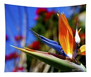 Bird Of Paradise Open For All To See Tapestry
