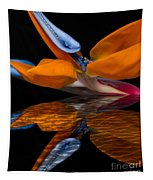 Bird Of Paradise Reflective Pool Tapestry