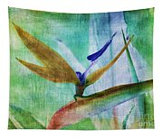 Bird Of Paradise Watercolor Tapestry