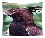 Bird Of Prey In Watercolor Tapestry