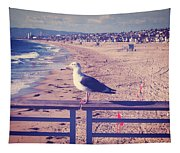 Bird On A Rail Tapestry