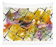 Bird On Chain Tapestry