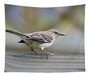Bird On The Fence Tapestry