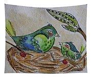 Bird Talk Tapestry