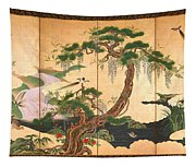 Birds And Flowers Of Spring And Summer Tapestry