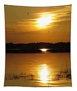Birds At Sunset Tapestry