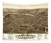 Bird's-eye View Of Youngstown Ohio 1882 Tapestry