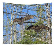 Birds Of A Feather Flock Together Tapestry