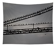 Birds On Crane Tapestry