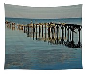 Birds On Old Dock On The Bay Tapestry