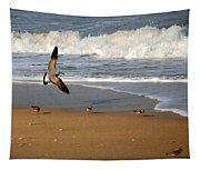 Birds On The Beach Tapestry