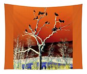 Birds On Tree Tapestry