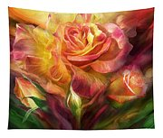 Birth Of A Rose - Sq Tapestry