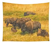 Bison Family Tapestry