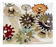 Bitter Happy Wheels Tapestry