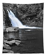 Black And Color Waterfall Tapestry