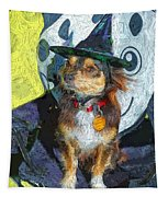Black And Tan Chihuahua - Such A Good Little Witch Tapestry