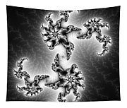 Black And White Abstract Fractal Art Tapestry