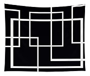 Black And White Art - 145 Tapestry