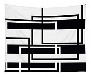 Black And White Art - 152 Tapestry