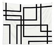 Black And White Art - 156 Tapestry
