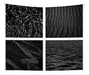 Black And White Beach Tapestry