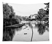 Black And White - Boathouse Row Tapestry