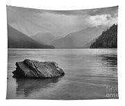 Black And White Cheakamus Lake Tapestry