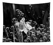 Black And White Daffodil Tapestry