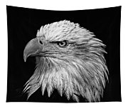 Black And White Eagle Tapestry