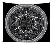 Black And White Gothic Celtic Mermaids Tapestry