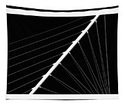 Black And White Lines Tapestry
