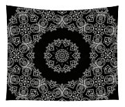 Black And White Medallion 6 Tapestry