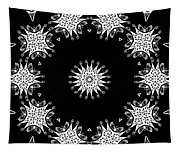 Black And White Medallion 9 Tapestry