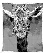 Black And White Peek A Boo Giraffe Tapestry