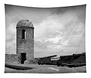 Black And White Sentinel Tapestry
