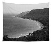 Black And White Sleeping Bear Dunes Tapestry
