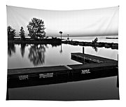 Black And White Sunset Tapestry