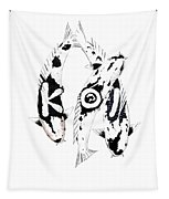 Black And White Trio Of Koi Tapestry