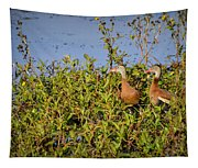 Black-bellied Whistling Ducks Tapestry