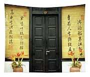 Black Doors Tapestry