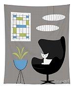 Black Egg Chair Tapestry