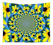 Black Eyed Susan Kaleidoscope Tapestry